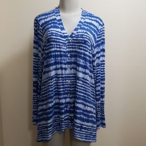 LOGO layers blue splotchy button front top-L